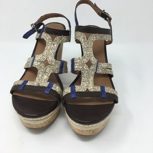 Lucky Brand Wedge Strappy Sandal Size 10 EUC